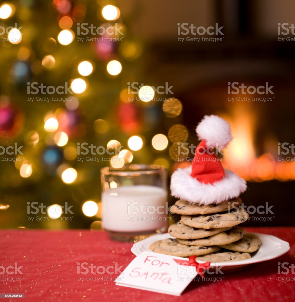 Cookies and Milk for Santa stock photo