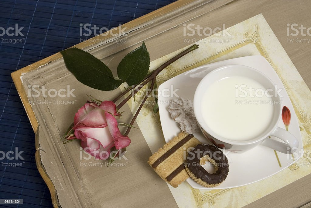 Cookies and milk royalty-free stock photo