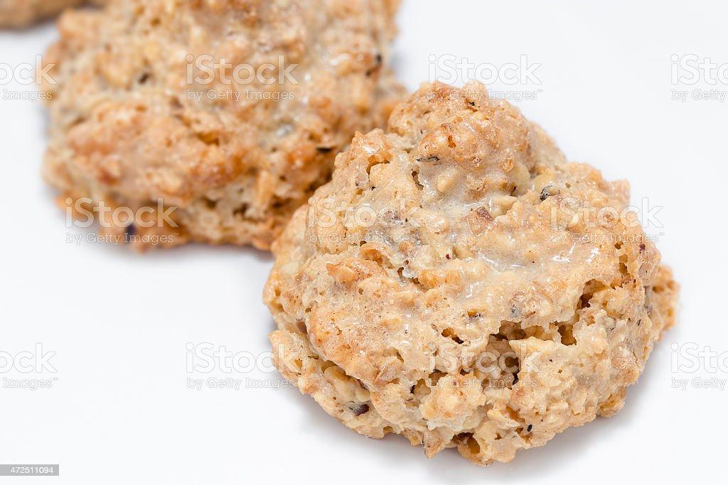Cookies 'brutti ma buoni' Italian cookies - closeup stock photo
