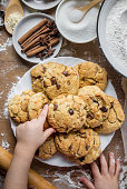 istock Cookies, cakes, cook their own hands. Selective focus. 1045876886