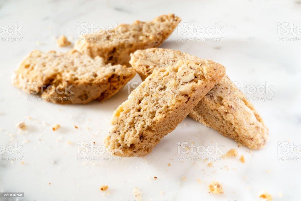 Cookies de almendras stock photo