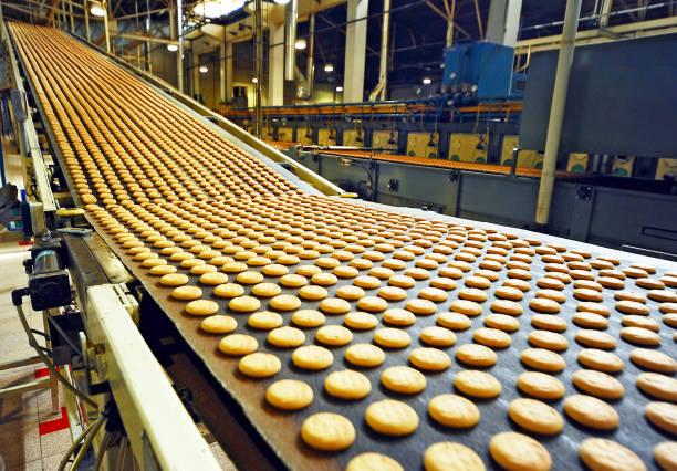 Cookies factory stock photo