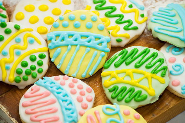 Cookies for Easter stock photo