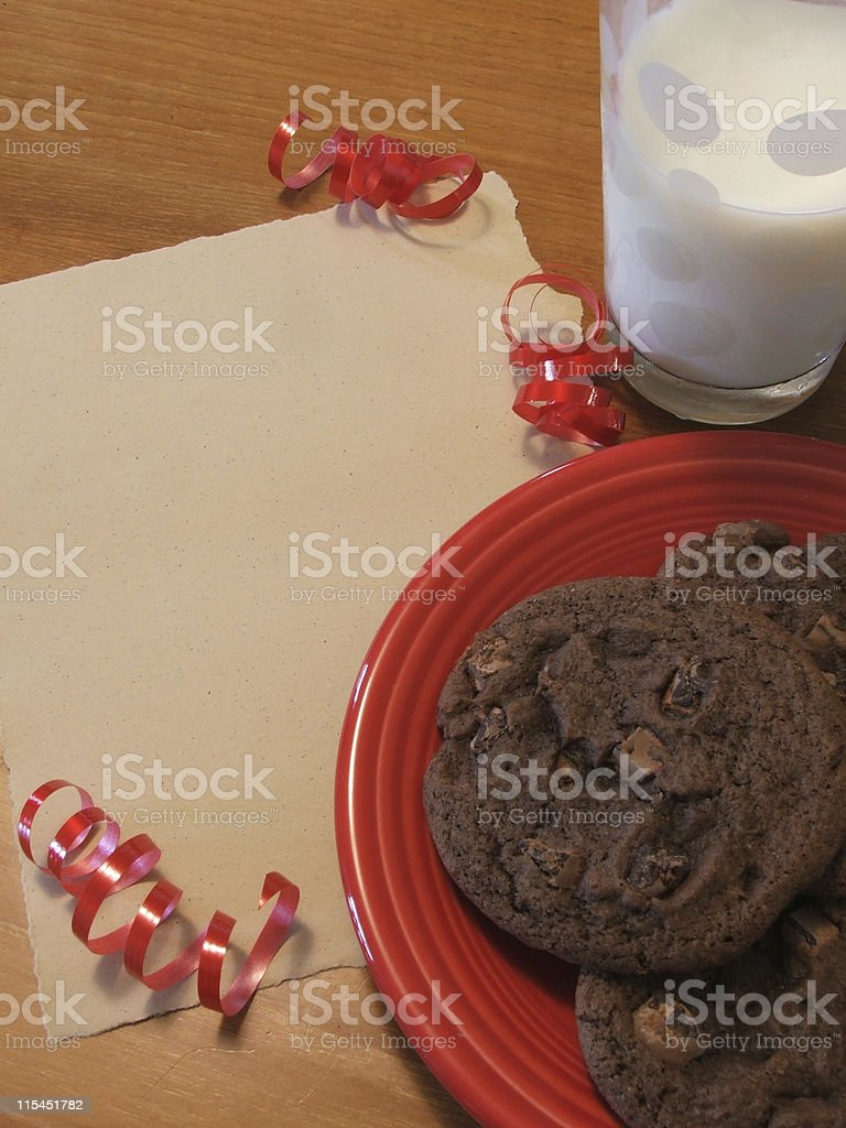 Cookies for Santa royalty-free stock photo