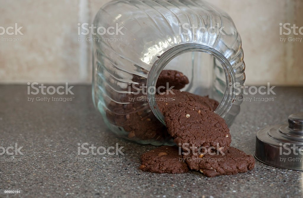 Cookies in a cookie jar royalty-free stock photo
