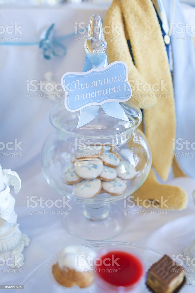 Cookies in a glass jar stock photo
