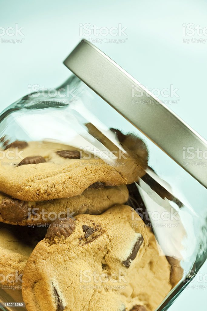Cookies in Jar royalty-free stock photo