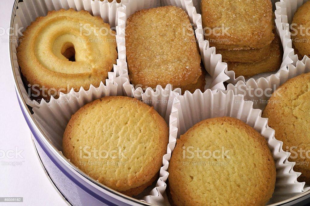 Cookies in metal box (3) royaltyfri bildbanksbilder