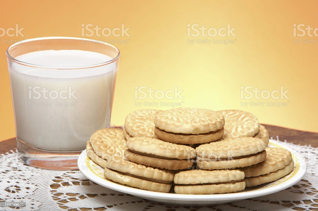 Cookies & Milk royalty-free stock photo