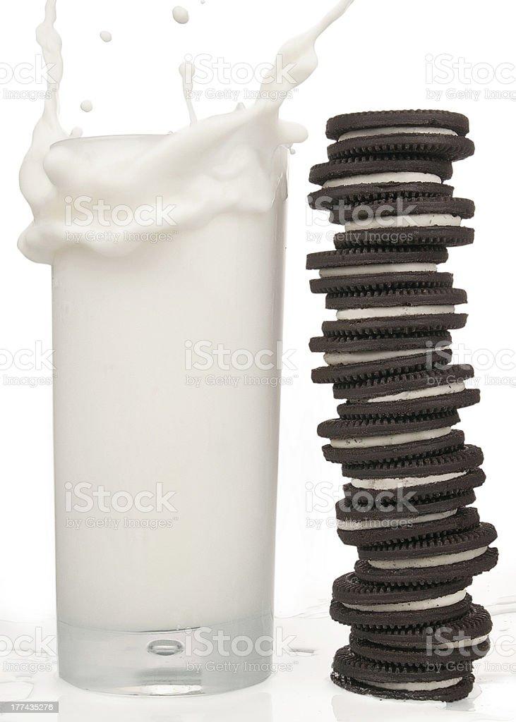 Cookies ' n Milk royalty-free stock photo