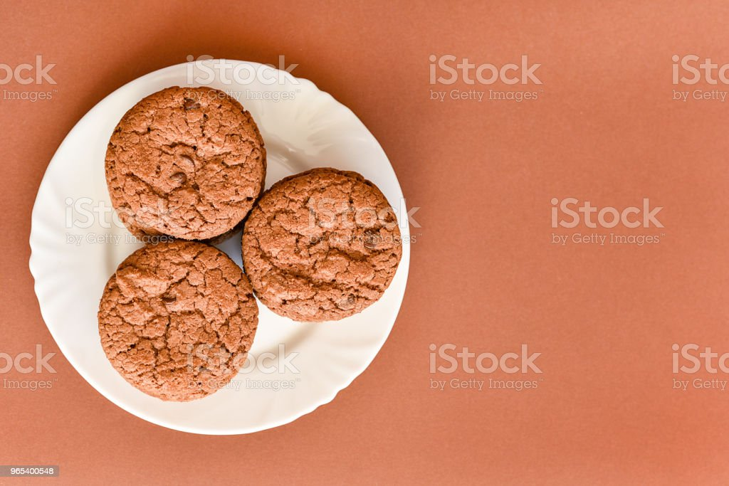 Cookies on a white plate royalty-free stock photo