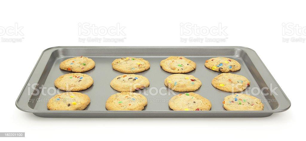 Cookies on Baking Sheet royalty-free stock photo