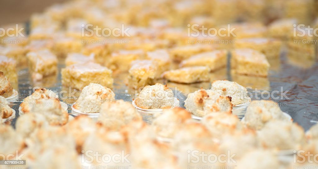 cookies on buffet stock photo
