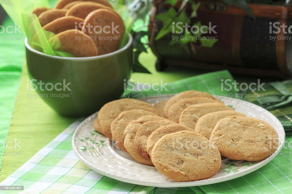 Cookies on green royalty-free stock photo