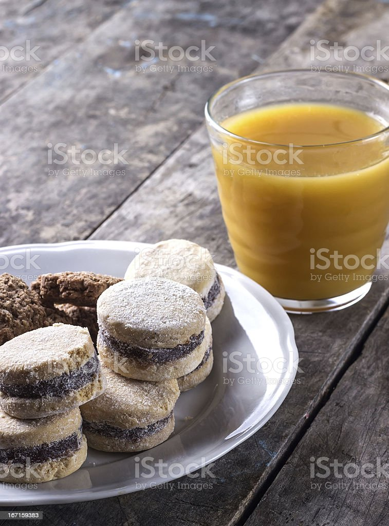 Cookies on plate royalty-free stock photo