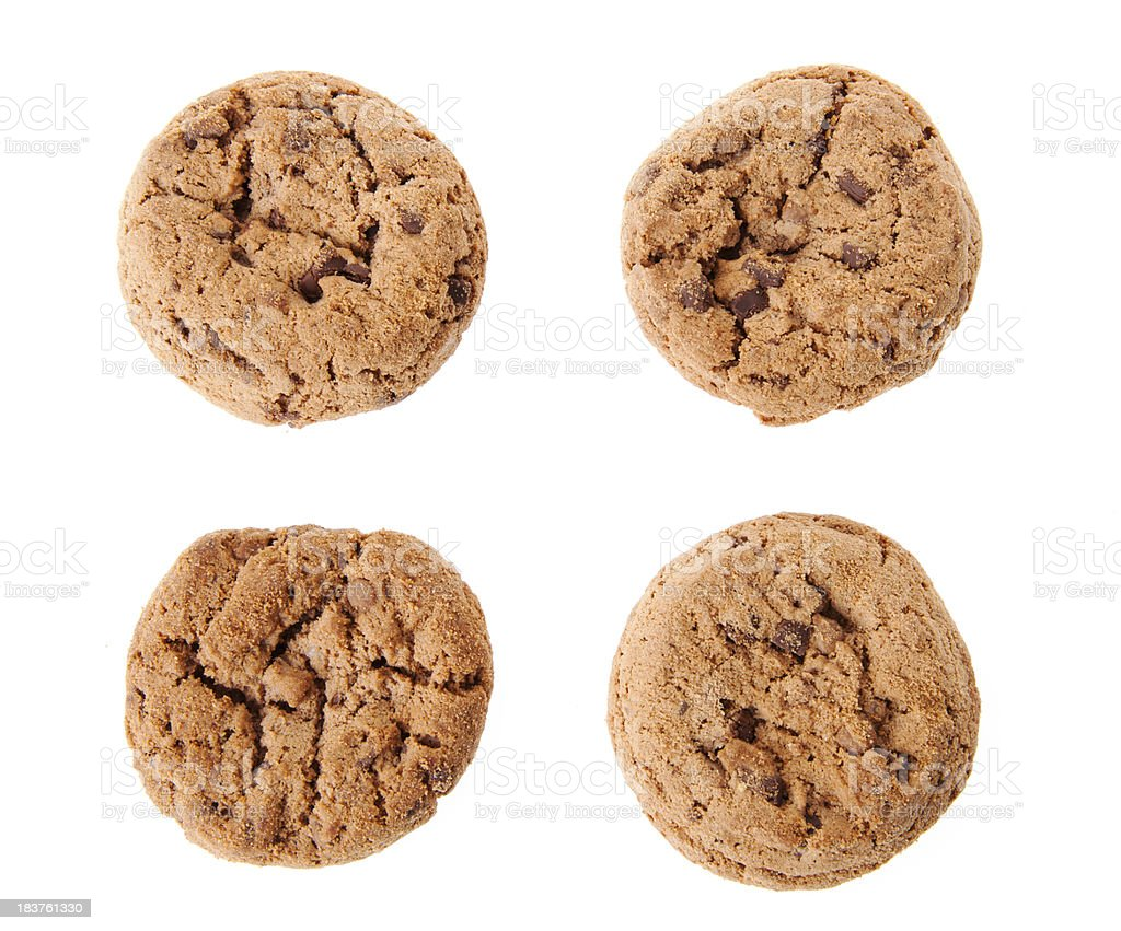 Cookies on white royalty-free stock photo