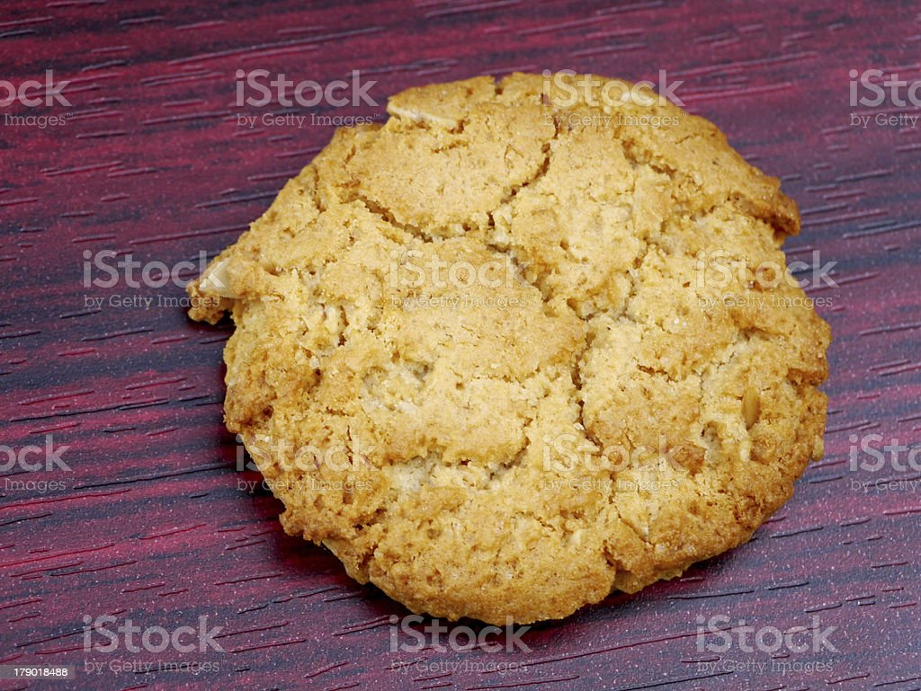 Cookies on wood background. royalty-free stock photo