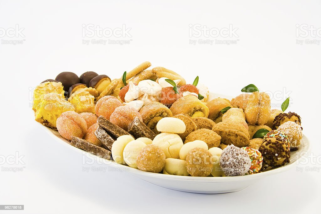 Cookies plate royalty-free stock photo