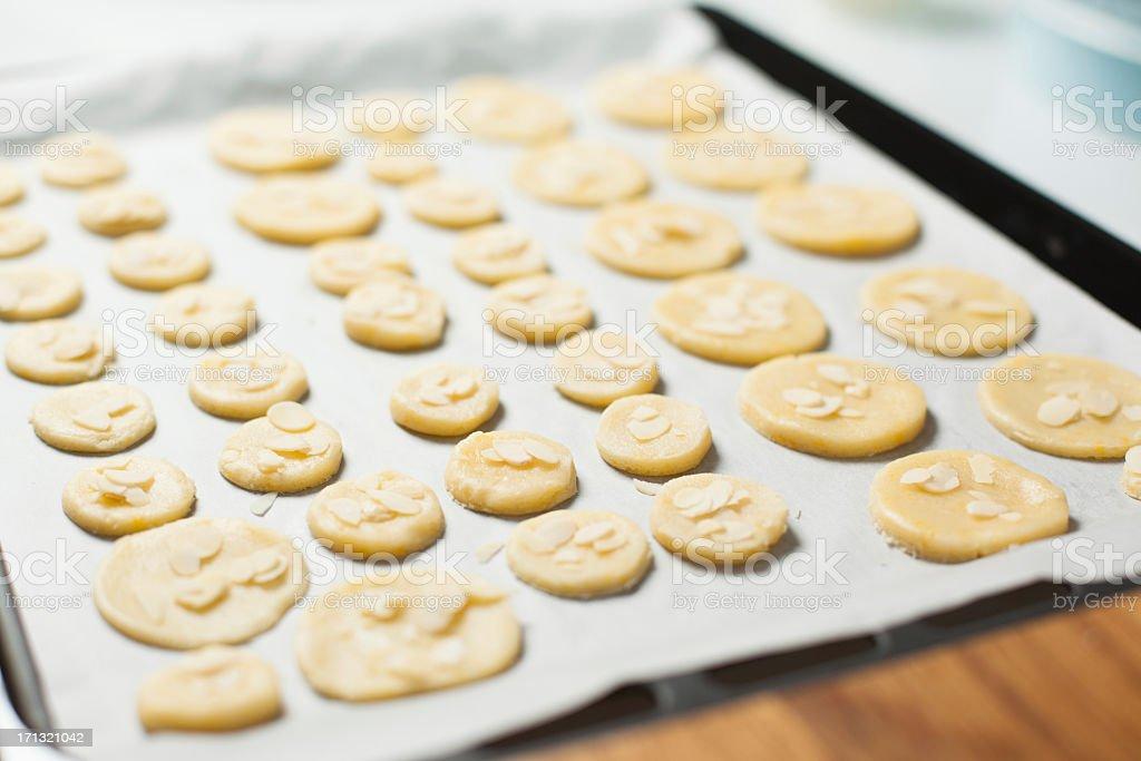 Cookie pronto per essere al forno - foto stock