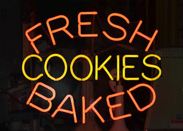 Cookies Sign stock photo