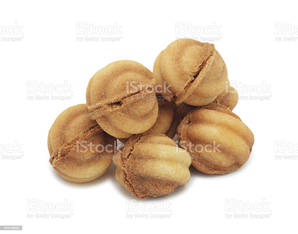Cookies, isolés bottier photo libre de droits