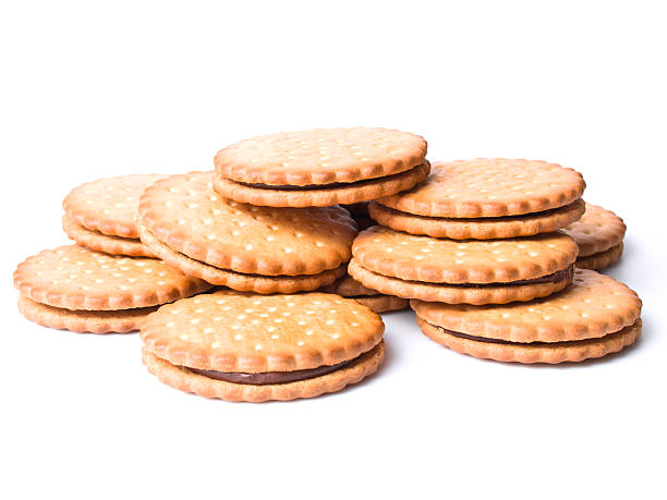 cookies w/ clipping path - xxmmxx stock photos and pictures