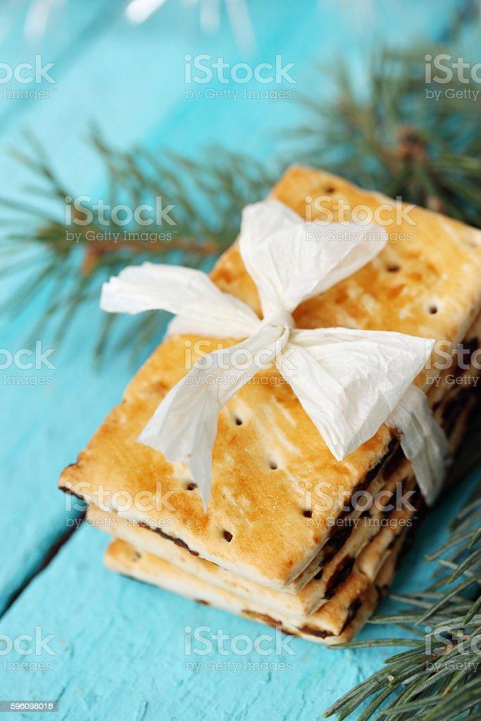 cookies white bow Lizenzfreies stock-foto