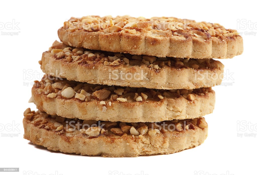 Cookies with a nut crumb royalty-free stock photo