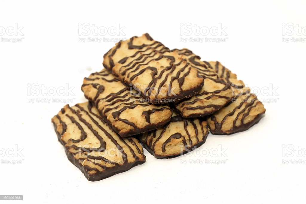 Cookies with chocolate glazing royalty-free stock photo
