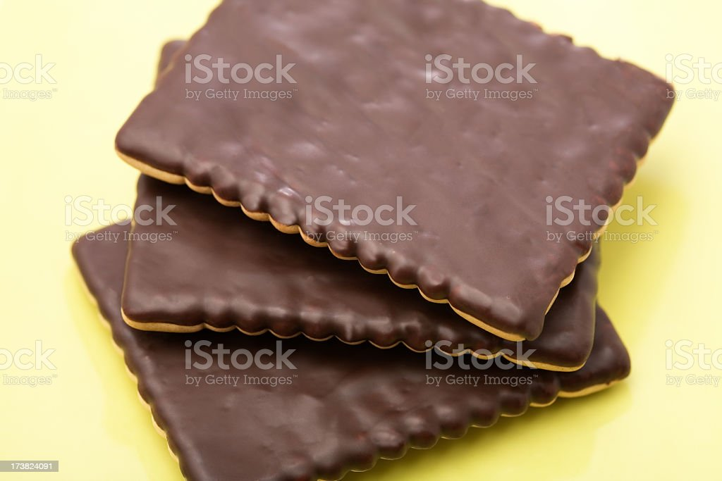 Cookies with Chocolate royalty-free stock photo