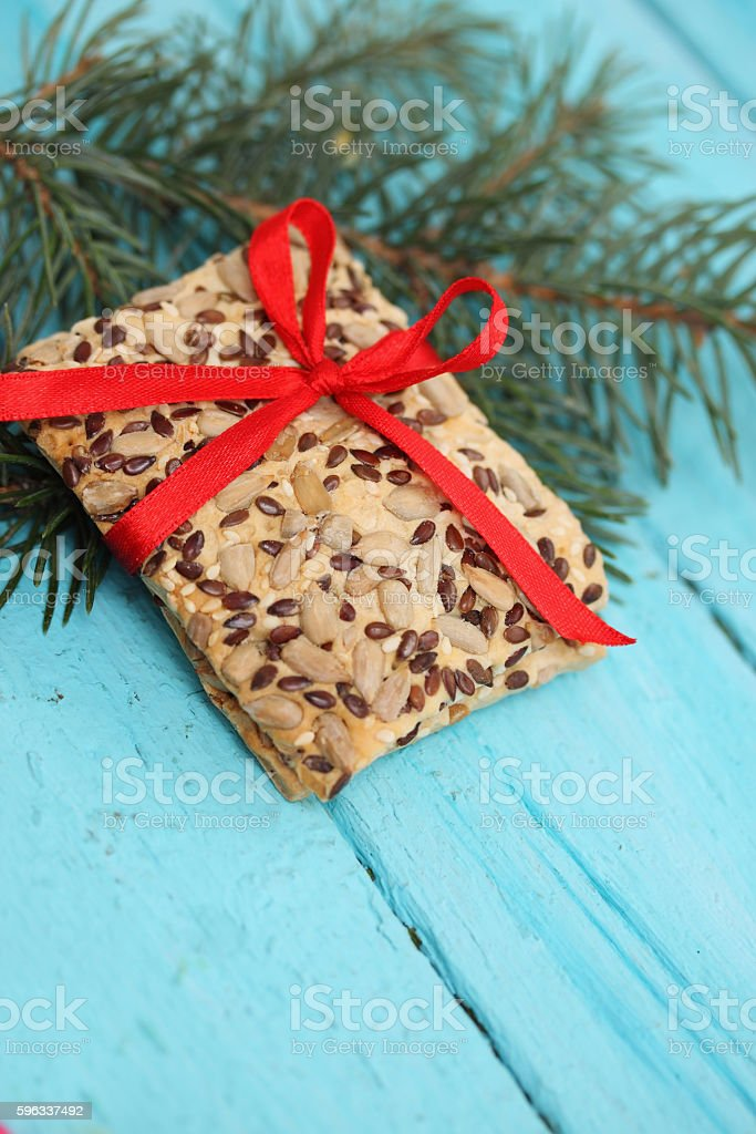 cookies with flax seeds royalty-free stock photo