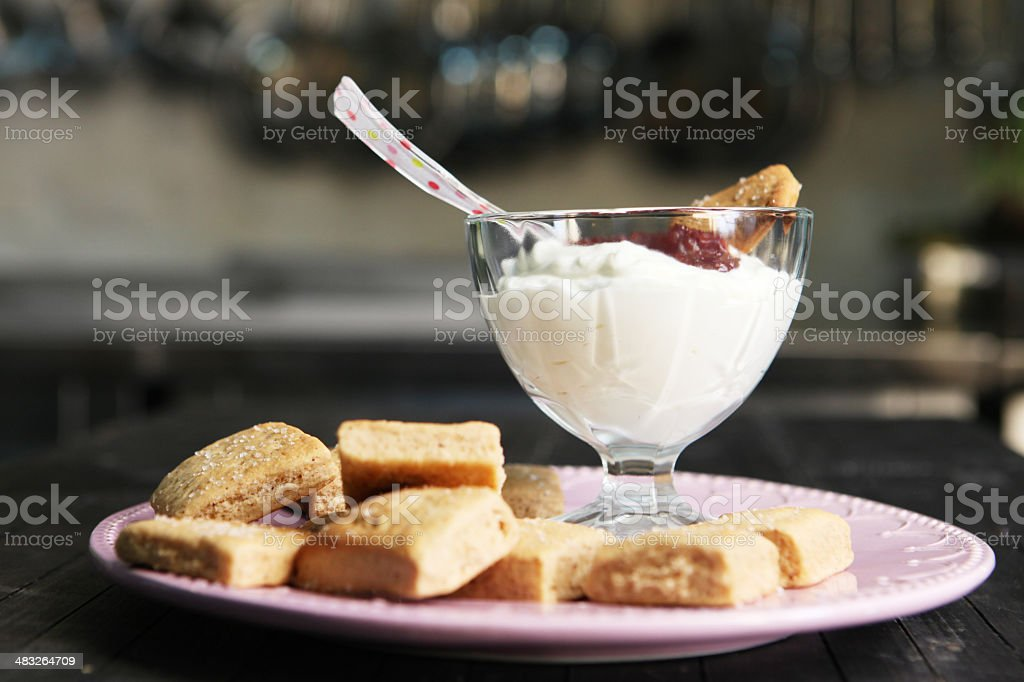 Cookies with ice-cream royalty-free stock photo