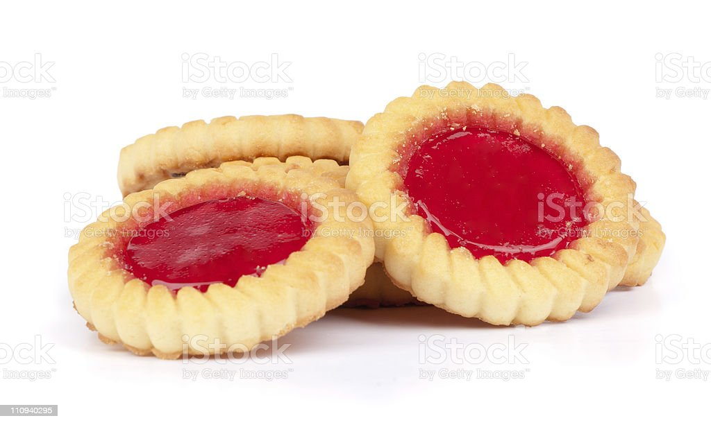 cookies with jam royalty-free stock photo