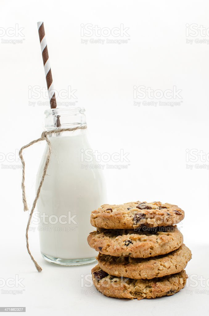 Cookies with milk royalty-free stock photo