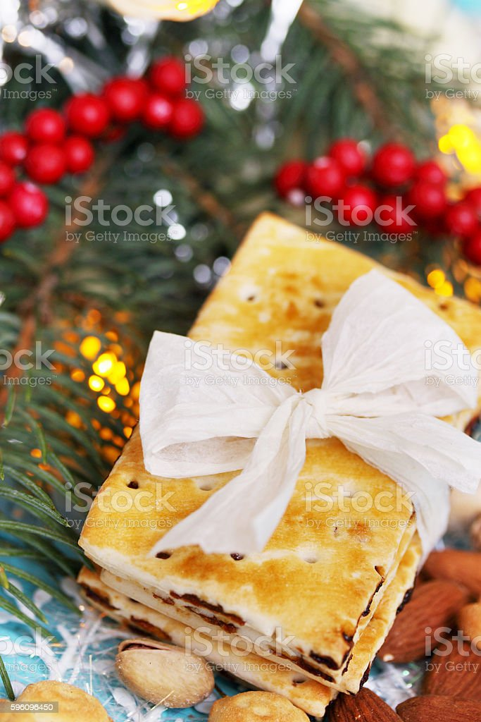 cookies with raisins, top view royalty-free stock photo