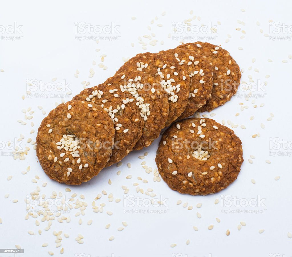 cookies with sesame royalty-free stock photo