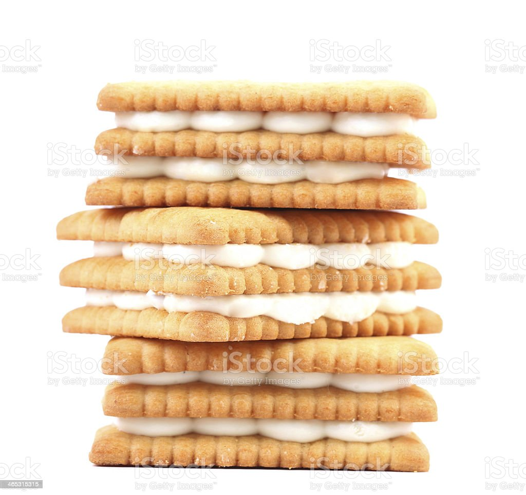 Cookies with white chocolate. royalty-free stock photo