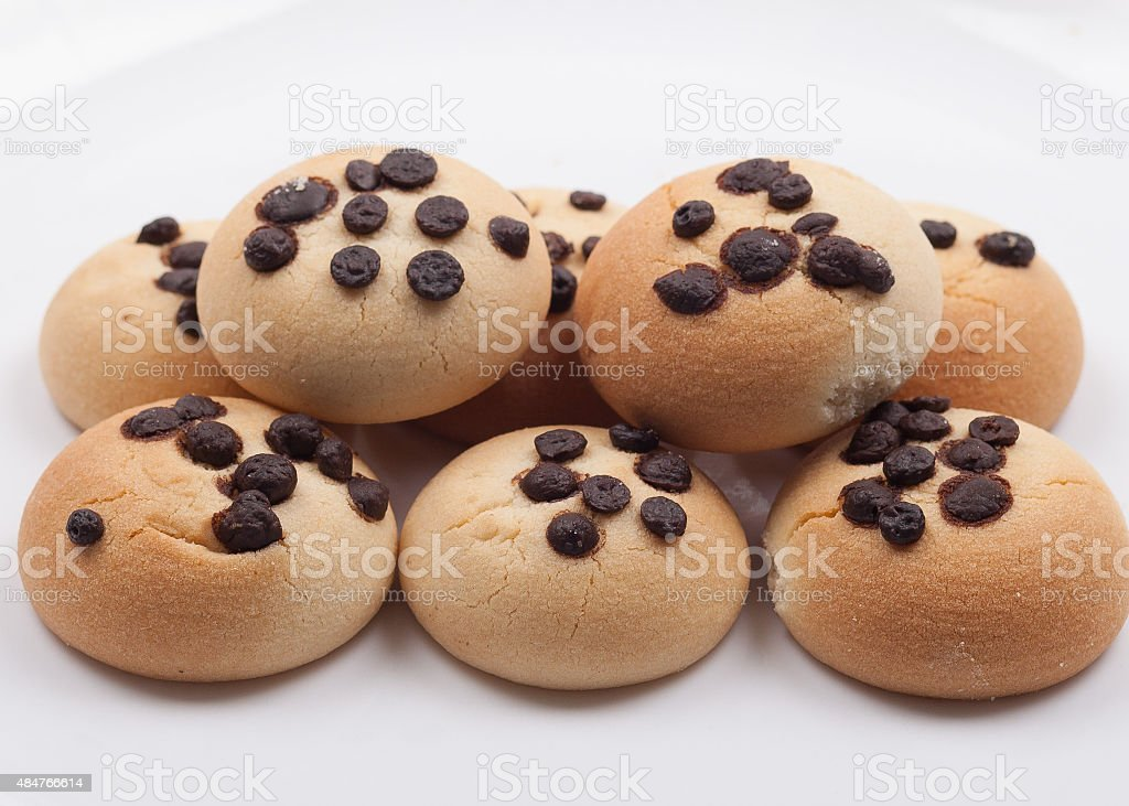cookies-chocolate chips stock photo