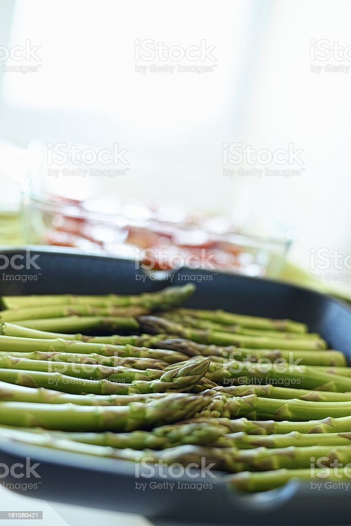 Cooking Asparagus royalty-free stock photo