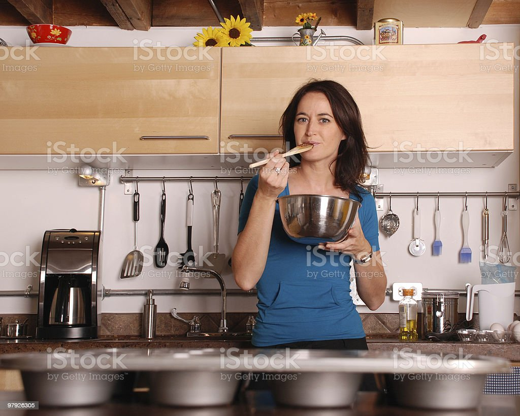 Cooking at home royalty-free stock photo
