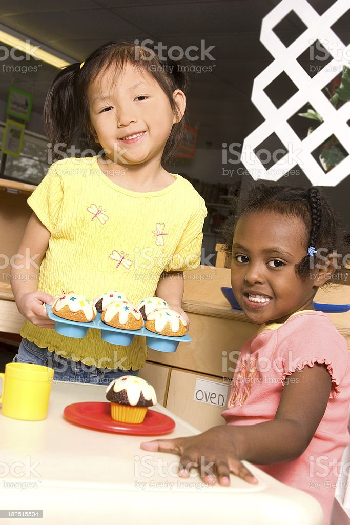 Cooking at Preschool royalty-free stock photo