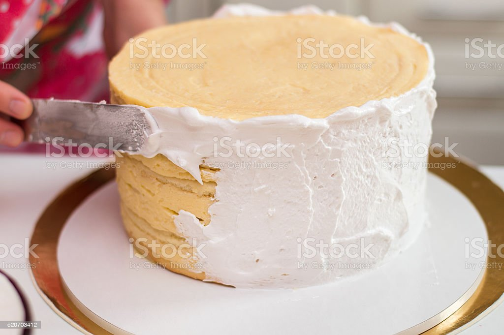 Cooking cake stock photo