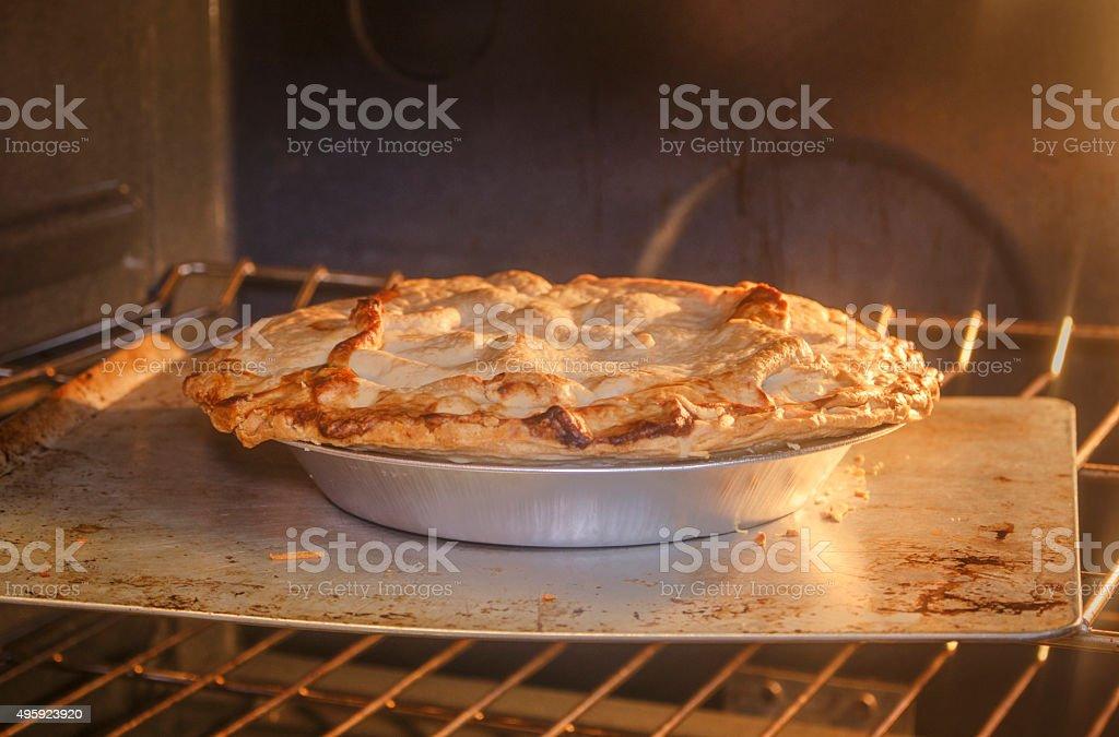 Cooking Chicken Pot Pie stock photo