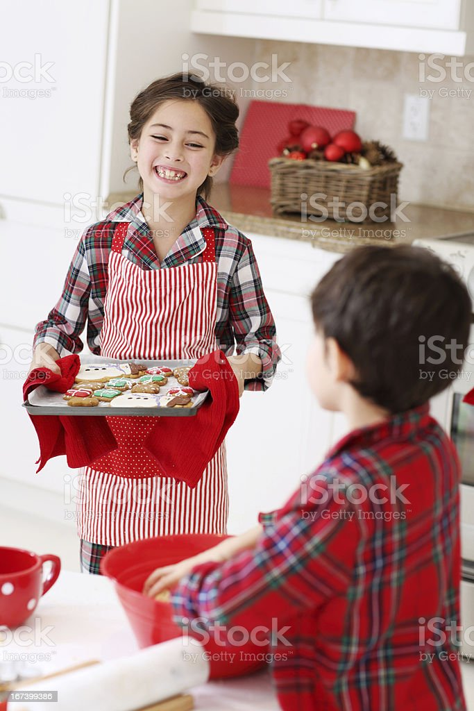 Cooking Christmas cookies royalty-free stock photo