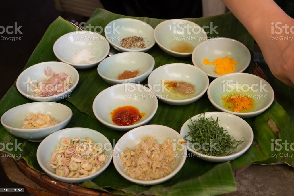 Cooking class in Hoi An, Vietnam stock photo