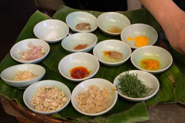 Cooking class in Hoi An, Vietnam stock photo