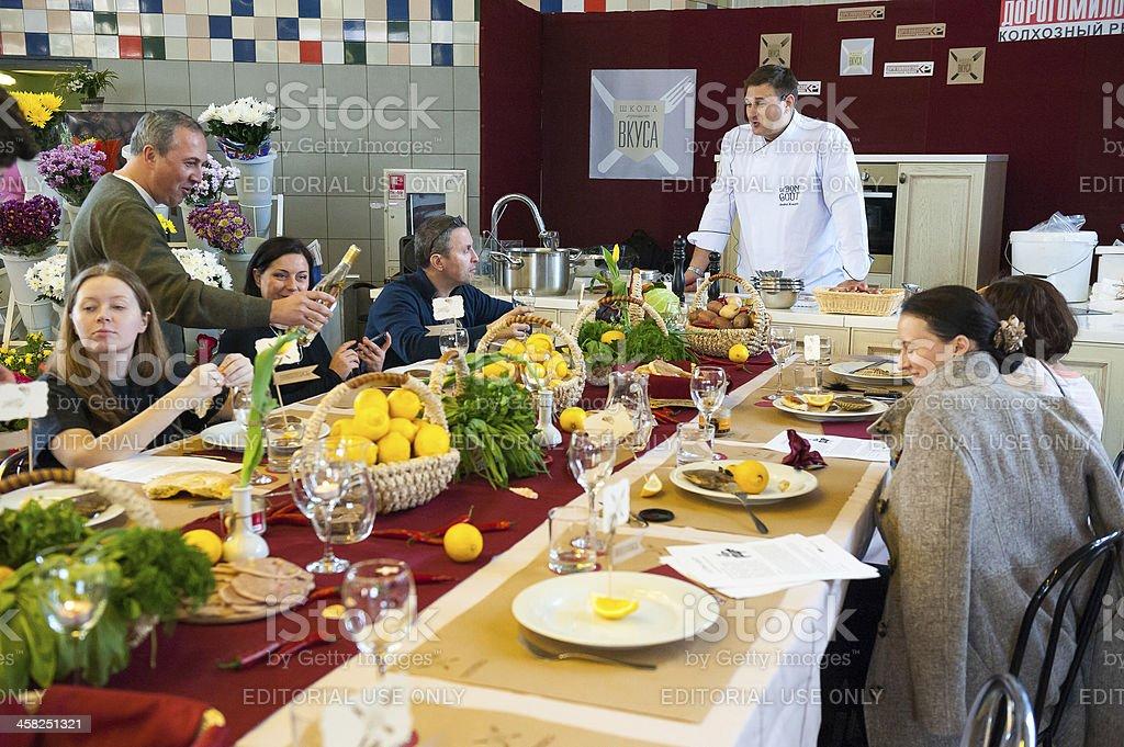 Cours de cuisine «Taste leçon numéro 5: De fruits de mer. - Photo