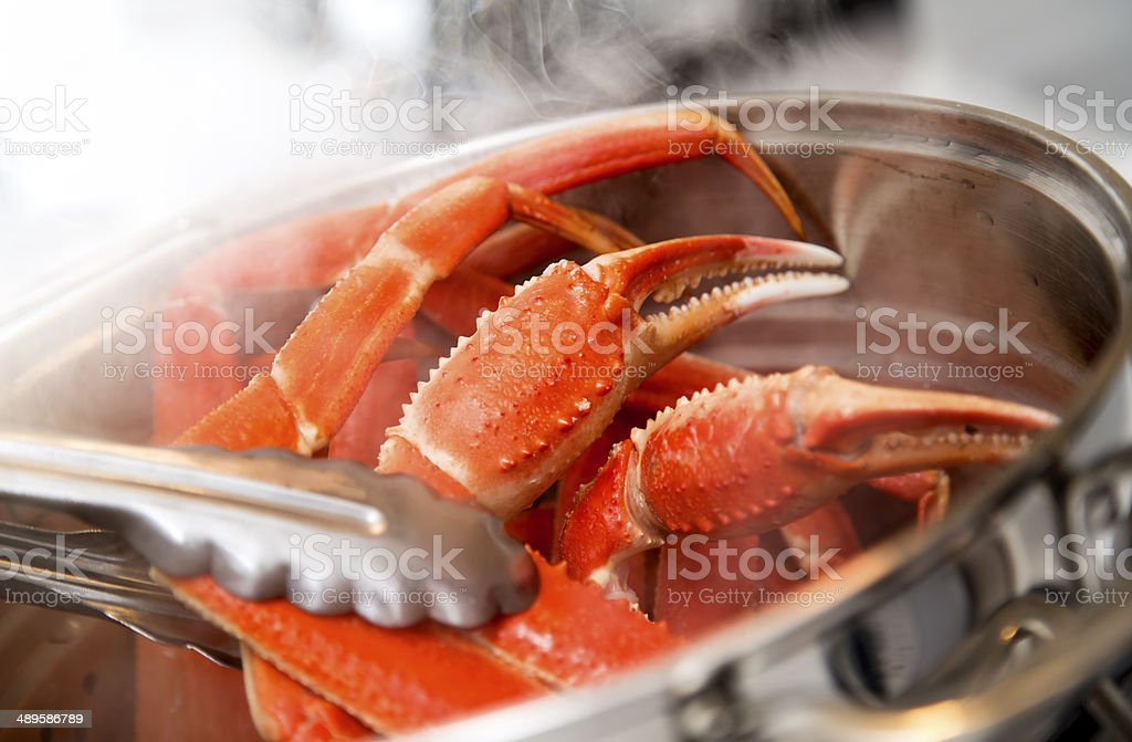 Cooking Crab Legs stock photo