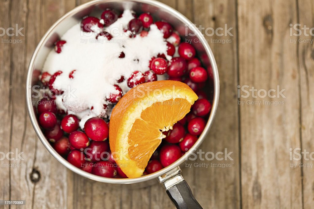 Cooking Cranberry Relish royalty-free stock photo