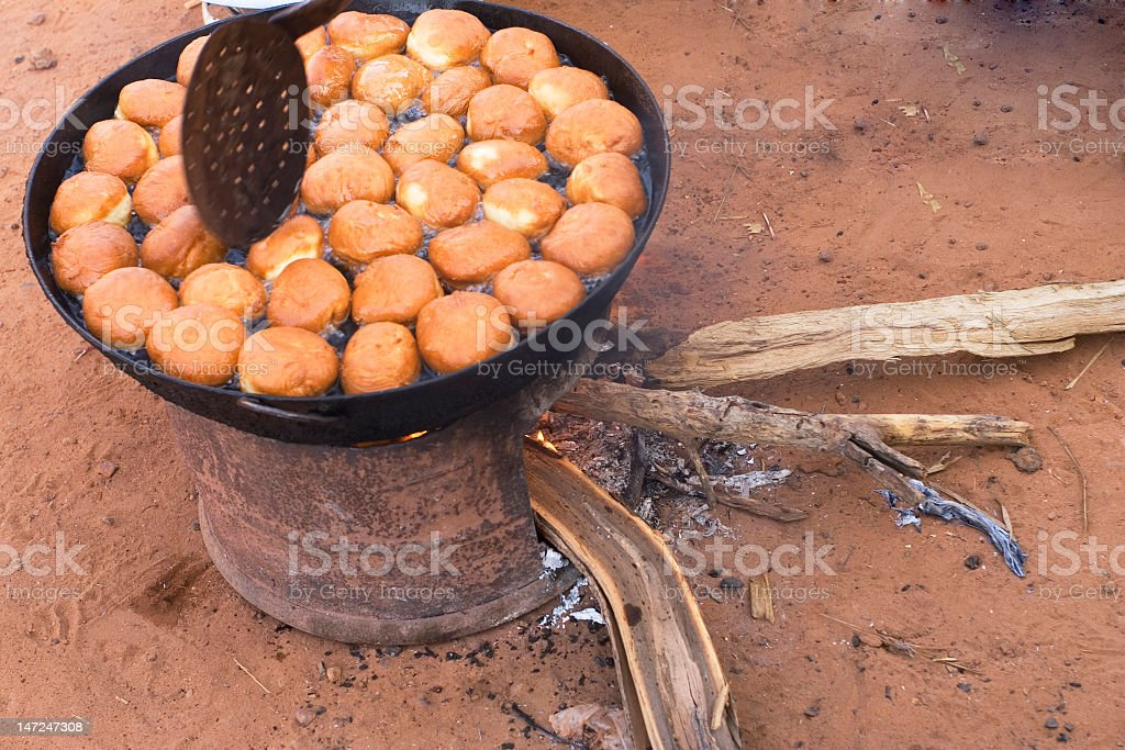 cooking doughnuts royalty-free stock photo